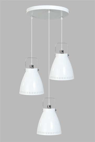 Witte hanglamp Acate Trio